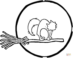 Small Picture Full Moon and Cat coloring page Free Printable Coloring Pages