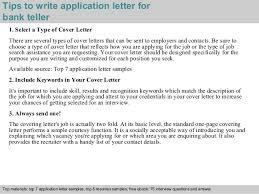3 tips to write application letter for bank teller bank teller resume cover letter