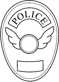 Small Picture Blank Police Badge Coloring Page Coloring Sky