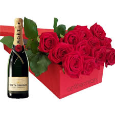 gift box with red roseoet 700ml