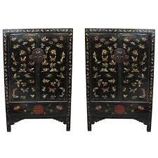 black lacquer paint for furniture. 18th Century Chinese Butterfly Cabinets For Sale Black Lacquer Paint Furniture P