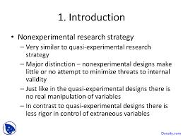 Experimental Vs Quasi Experimental Design Nonexperimental And Quasi Experimental Strategies Research