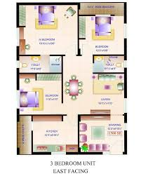 sensational inspiration ideas 3 1500 sq ft house plans east facing small square feet floor