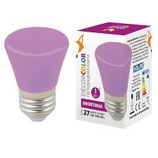 <b>Лампочка Volpe LED</b>-<b>D45</b>-<b>1W</b>/PURPLE/<b>E27</b>/<b>FR/С</b> BELL Bell <b>LED</b> ...