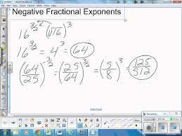 negative fractional exponents