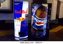 Red Bull Vending Machine Custom Red Bull And Pepsi Vending Machines Offering Cold Energy Drinks And