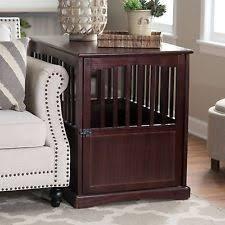 wooden dog crate furniture. Dog Pet Crate Indoor Wooden End Table Nightstand Espresso Living Room Bedroom Furniture O