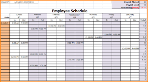 employee schedules templates 7 weekly employee schedule template authorization letter