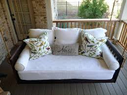 Porch Bed Swing Mattress Cover Charleston Sc Plans Living Room