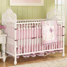 Furniture Cute Baby Cribs Bedding With Pink Bed Color For Baby Girl  (attractive Babys Crib #2) Pictures Album
