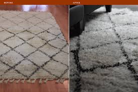 rug cleaning flokati rug before and after