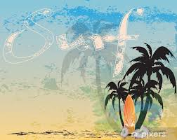 retro surf background wall mural