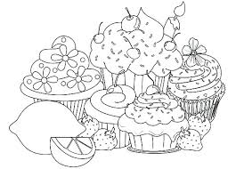 Seven Cupcakes Coloring Pages Colouring Online Cute Grandfather