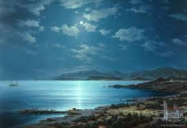 dmitriew george moonlit night on crete