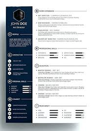 Modern Graphic Resume Template Free Modern Resume Template Modern Resume Format Free Download New