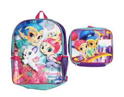 Nickelodeon Size Chart Nickelodeon Shimmer Shine Girls 2 Piece Backpack Purple