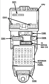 1989 ford probe fuse panel diagram Ford Probe Fuse Box Diagram Ford Probe Fuse Box Diagram #13 ford probe fuse box diagram