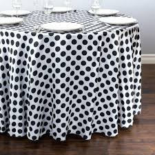 polka dot tablecloth black and white cloth plastic roll yellow round