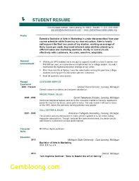 Resume Format For Students Pdf Fresh Graduate Resume Template Career