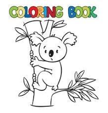 coloring book with funny koala vector