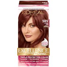 L Oreal Triple Protection 5rv Warmer Medium Red Violet Hair Color