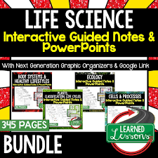 Life Science Biology Guided Notes And Powerpoints Ngss Life