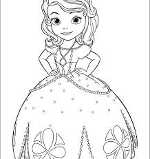 Sophia The First Coloring Pages Coloring Book Princess Colouring