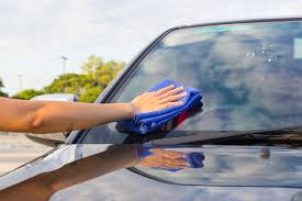 windshield scratch repair use microfiber towel to rub the damaged area with the chemical