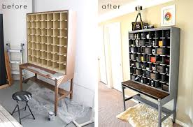 Refurbished furniture before and after Drawers After Seeing So Many Awesomely Altered Cabinets And Hutches Over The Years Im Convinced That Anyone Regardless Of His Or Her Craft Skills Or Experience Designsponge Before After Best Of Cabinets And Hutches Designsponge