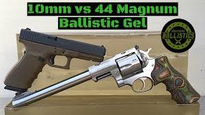 44 rem mag ballistics chart 10mm vs 44 magnum vs ballistic gel