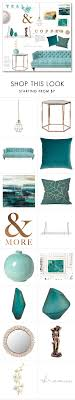 teal copper living room chic mint teal office