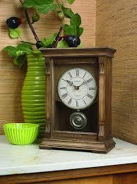 bulova chiming mantel clock weathered finish warrick iii b7663