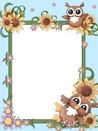 A forma mais comum de usar os modelos de letras na decoração de casa é por meio de quadros, moldura e murais. Frame For Children Png Tags Ideias Cartoes Artesanais Bordas Coloridas