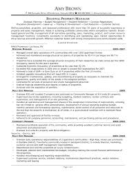 Sample Resume Cover Letter Property Management New Property Manager