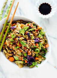 vegetable fried rice recipe made with extra veggies and brown rice for health and flavor