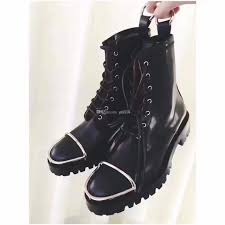moto booties. women\u0027s combat boots new 2018 fall winter black flats ankle womens moto booties ariat work from gucci8, $161.55  dhgate.com