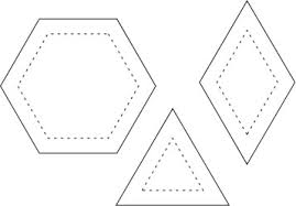 Tips & Lessons > Fussy Cutting Border Prints for Hexagons & Tip Notes Adamdwight.com