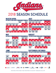Cleveland Indians release 2018 schedule ...