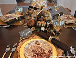 Fall Table Scapes Golden Autumn Tablescape Celebrate Decorate