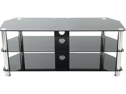 avf sdc1250cm a up to 60 chrome effect black glass classic black glass tv stand black
