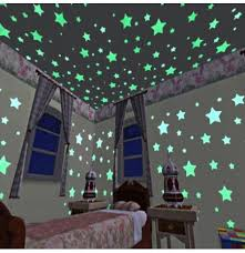 100pcs 3d stars glow in dark luminous