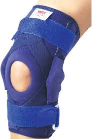Vissco Hinged Brace With Patella Opening Metal Hinges Knee Support L Blue