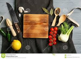 Beautiful Composition With Empty Wooden Board And Vegetables