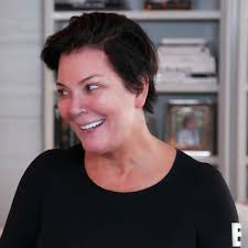 kim kardashian practices mortician makeup on kris jenner