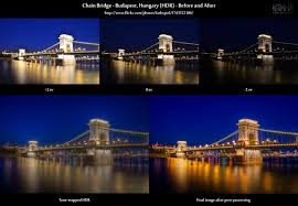 hdr photography before after. Exellent Before Beforeandafter Comparison Of An HDR Image Showing The Chain Bridge In  Budapest With Hdr Photography Before After
