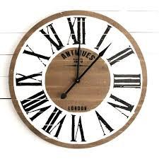 farmhouse wall clock clocks for antique gaines farmhouse wall clock