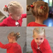 Kids Girls Hair Style two buns two braids kids summer hair blond girl hairstyle for 7374 by wearticles.com