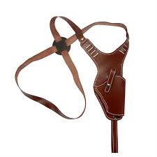 hunting shoulder holster chest brown leather cross harness vertical shoulder holster outdoor pouch lightweight heavy duty
