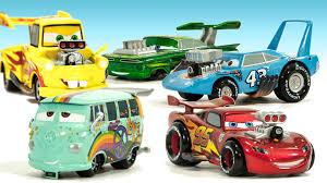 cars the movie the king. Interesting King Disney CARS Movie Hot Rod Car Set Lightning McQueen Mater King Filmore  Ramone DisneyCarToys On Cars The N