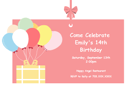Balloon Birthday Invitations Balloon Birthday Invitation Card Free Balloon Birthday Invitation